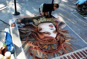 Street Painting at Disney by AmazingStreetPaint