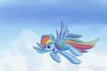Putting the Rainbow in Rainbow Dash by DarkFlame75