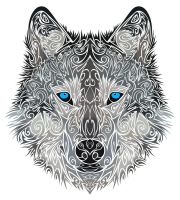 Tribal Wolf by Dessins-Fantastiques
