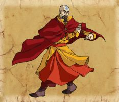 Air Bending Master Tenzin by ReaperClamp