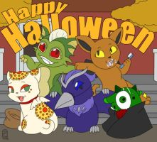 Monsters for Halloween by MuseWhimsy
