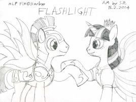 Valentine 2014 Twilight Sparkle And Flash Sentry by Megamink1997