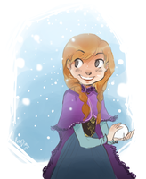 Frozen::Princess Anna by vanipy05