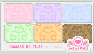 Vector - Damask BG Tiles by firstfear