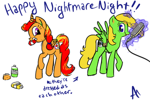 Lollipop and Palette - Happy Nightmare Night! by BananimationOfficial