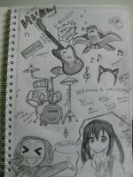 K-on Doodle by itsonlyaurl