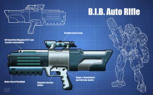 B.I.B. Auto Rifle by The-Midnight-Angel