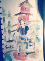 becarful watercolor-san! by Oceancitrus97