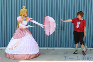 Villager Takes Princess Peach's Parasol= OH SHI- by GothLoliChanKaru