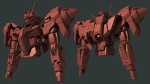 00 Gundam Second Draft WIP 10 by Garm-r