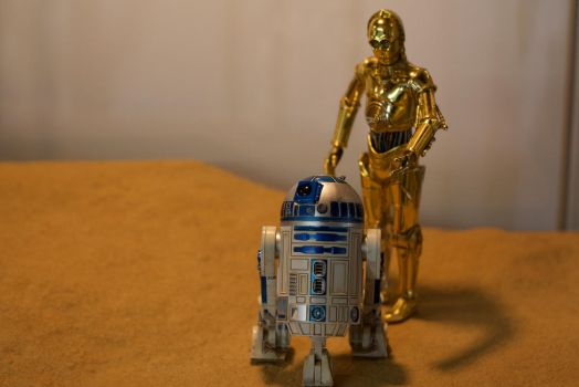 Star Wars C3PO display by Terrafoamer