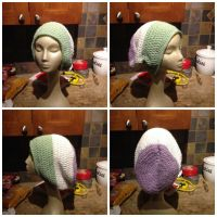 Slouchy Genderqueer Flag Beanie Commission by DammitMax