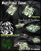 Wolf Keychain and Necklace SOLD OUT by J-C