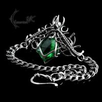ENTRIATH - silver and green quartz by LUNARIEEN