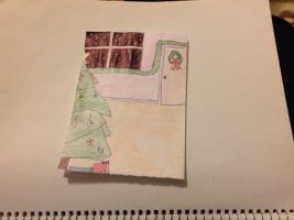 Holiday Card Project: Holiday living room. by BlueRoseKelly