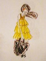 yellow dress by d-elu