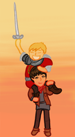 Arthur and Merlin by ContntlBreakfst