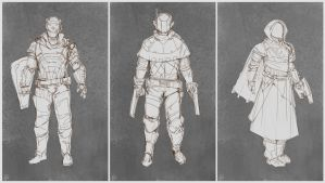Playable Androids - Concept Sketches by Taylor-payton