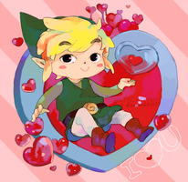 LoZ: Valentines Heart Pieces by saltycatfish