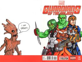 Guardians of the Galaxy Sketch Cover by TheRigger