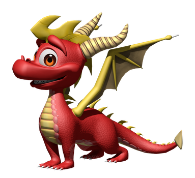 WIP - HQH Spyro Model: Classic Flame by FaithSDK