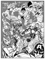 21 Avengers - Inks by quibly