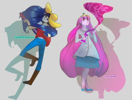:Marceline:and:PrincessBubblegum: by MoniquePalmerine