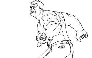 Hulk Line art by dark-chocobo