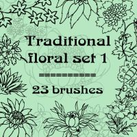 Traditional floral 1 by rL-Brushes