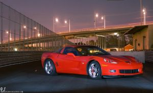 Corvette C6 Z06 - Night bridge by dejz0r