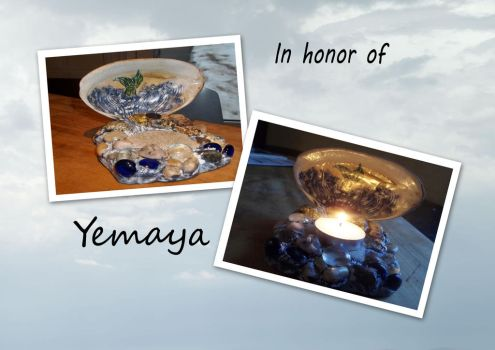 Yemaya's Candle Holder by WiccanGodess
