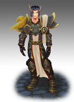 Blood Elf Crusader by Azumoth