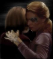 Janeway and Seven Dancing by phoenix6787