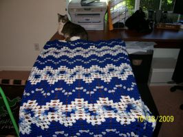 Crochet Baby Blanket - blue by Joce-in-Stitches
