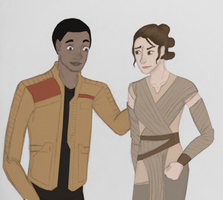 Finn and Rey by DelpheneLightfoot