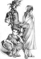 Kakashi, Gaara and Itachi by TSHORYUKEN
