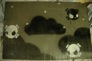black clouds and little skulls by mocklove