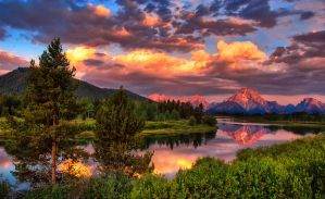 Morning Clouds and Color at Oxbow by CavalierZee