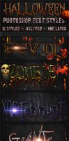 Halloween - Text Styles by ivelt