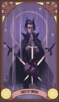 homestuck tarot: three of swords by kakimari