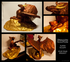 Mid-year School Project - Dragon Sculpture by ripple09