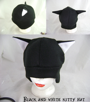 Black and white kitty hat by wolffang56