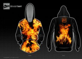 Black Fire Hoodie by jflaherty90