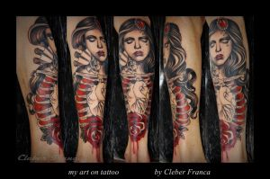 my art on tattoo by Cleber Franca by MWeiss-Art