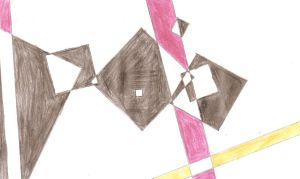 Abstract drawing by Sano-Balron