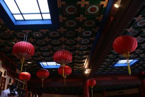 Hanging red lanterns by elf-fu-stock