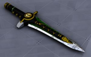green ranger sword by sameh-koko2