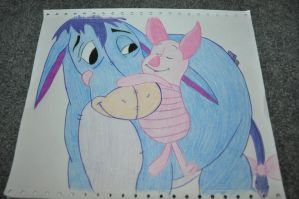 Eeyore and Piglet by Marebear-bear