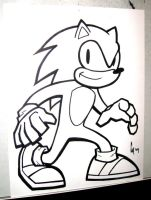 Sonic the Hedgehog WIP by 11ZOMBIES