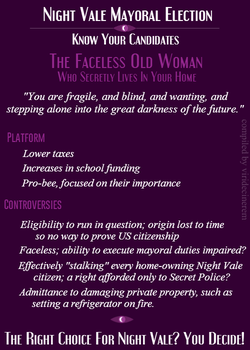 Night Vale Know Your Candidate: FOW by MutePoetess